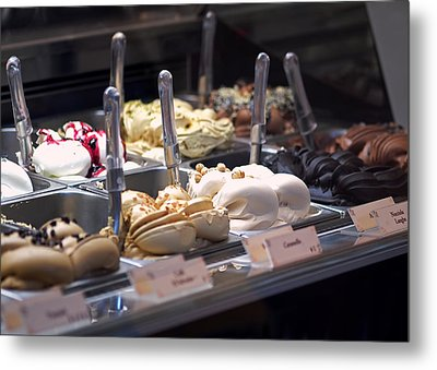 Metal Print featuring the photograph Gelato by Rona Black