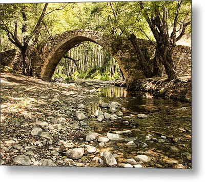 Gelefos Old Venetian Bridge Metal Print