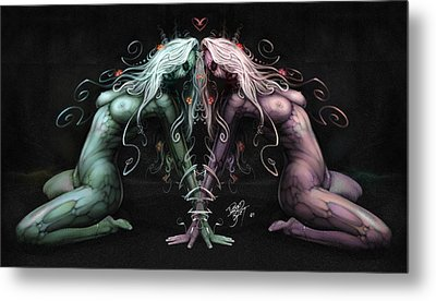 Gemini Heart Metal Print by David Bollt
