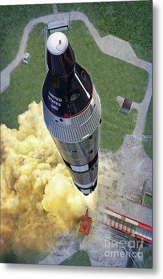 Gemini Titan Launch Metal Print by Stu Shepherd