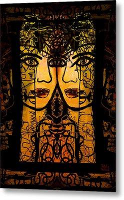 Gemini Twins Metal Print by Natalie Holland