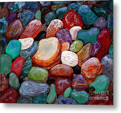 Gemstones Metal Print by Barbara Griffin
