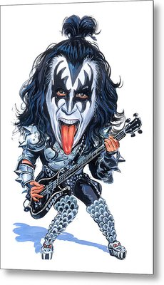 Gene Simmons Metal Print by Art