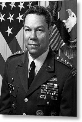 General Colin Powell Metal Print by War Is Hell Store