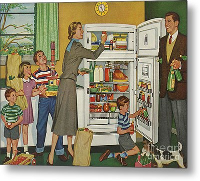 General Electric 1952 1950s Usa Fridges Metal Print by The Advertising Archives