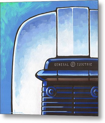 General Electric Toaster - Blue Metal Print by Larry Hunter
