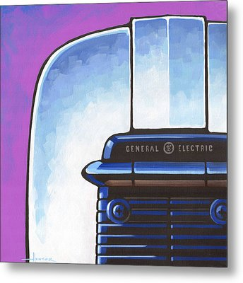 General Electric Toaster - Purple Metal Print by Larry Hunter