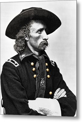 General George Armstrong Custer  Metal Print by Daniel Hagerman