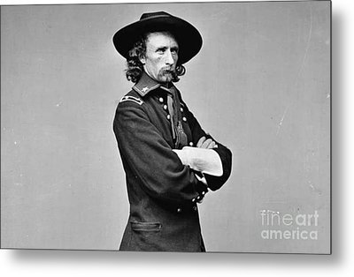 General George Armstrong Custer Killed 1876 Little Big Horn  Metal Print by David Call