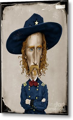 General George Custer Metal Print