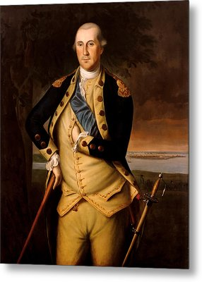 General George Washington  Metal Print by War Is Hell Store