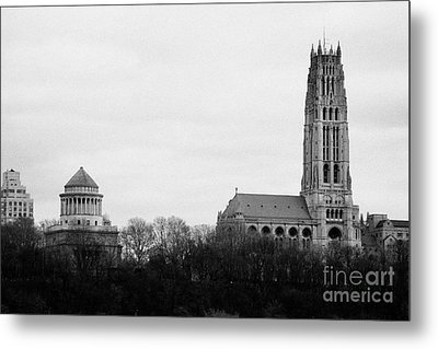 General Grant National Memorial And Riverside Church Riverside Park New York City Metal Print
