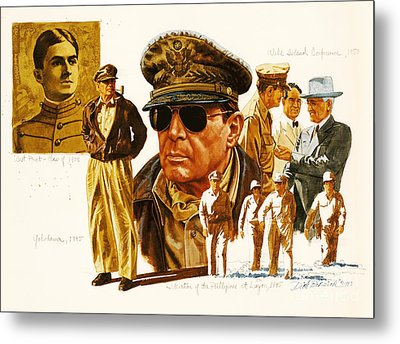General Macarthur Metal Print by Dick Bobnick