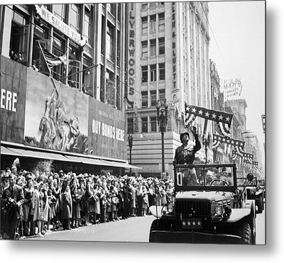General Patton Ticker Tape Parade Metal Print
