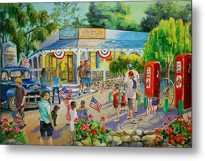 General Store After July 4th Parade Metal Print by Jan Mecklenburg