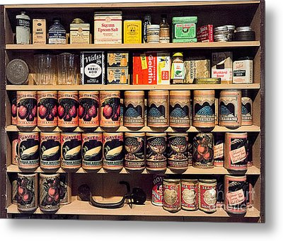 Metal Print featuring the photograph General Store Goods by Vicki DeVico