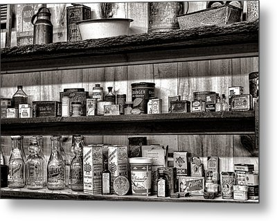 General Store Shelves Metal Print by Olivier Le Queinec