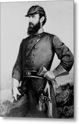 General Thomas Stonewall Jackson Metal Print by Mountain Dreams