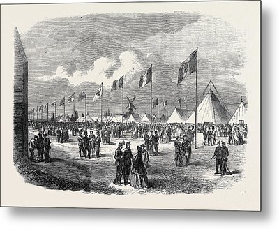 General View Of The Ground And Tents National Rifle Metal Print