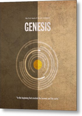 Genesis Books Of The Bible Series Old Testament Minimal Poster Art Number 1 Metal Print by Design Turnpike
