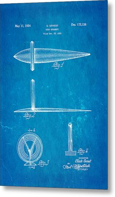Genest Hood Ornament Patent Art Blueprint Metal Print by Ian Monk