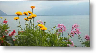 Geneva Flowers Metal Print by Teresa Tilley