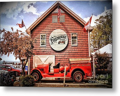 Geneva On The Lake Firehouse Metal Print