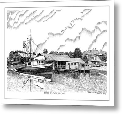 Fishing Trawler Genius Formaly Of Gig Harbor Metal Print by Jack Pumphrey