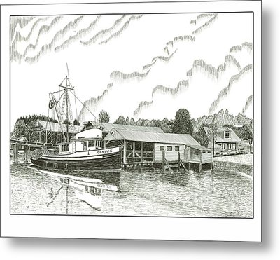 Genius Fishing Trawler Gig Harbor Metal Print by Jack Pumphrey