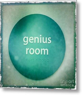 Metal Print featuring the photograph Genius Room by Nina Prommer