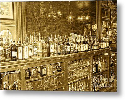 Genoa Bar Oldest Saloon In Nevada's Old West History Metal Print