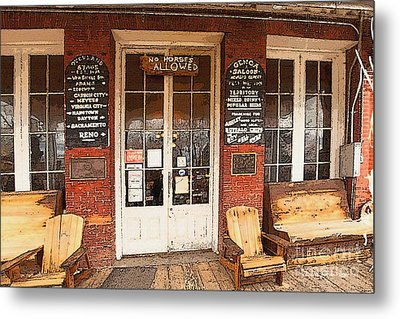 Genoa Saloon Oldest Saloon In Nevada Metal Print by Artist and Photographer Laura Wrede