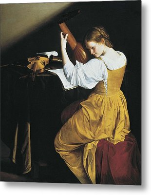 Gentileschi, Orazio Lomi 1565-1638. The Metal Print by Everett