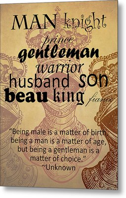Gentleman 3 Metal Print by Angelina Vick