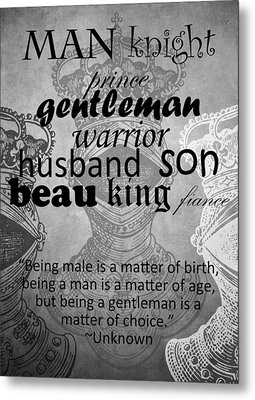Gentleman 4 Metal Print by Angelina Vick