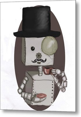 Gentleman Bot Metal Print by Stacy Parker