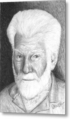Gentleman With White Beard Metal Print