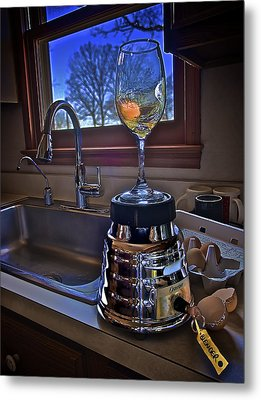 Gentlemen Start Your Blenders Metal Print by Mark Miller