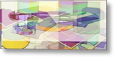 Metal Print featuring the digital art Geo-art by Cathy Anderson