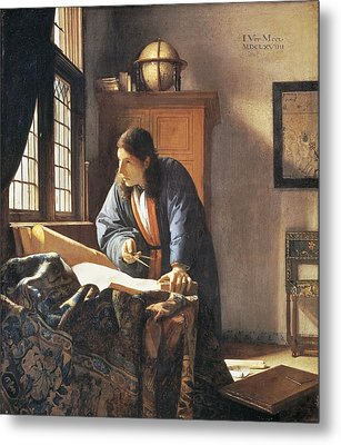 Geographer, 1669  Metal Print by Jan Vermeer