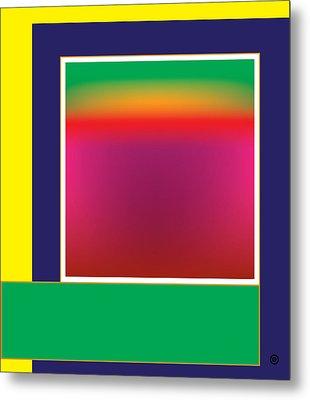 Geometric Abstract Gradation Metal Print by Gary Grayson