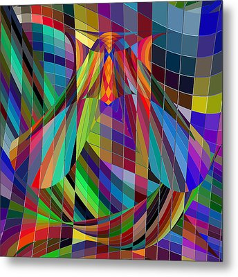 Geometric Alien Fly Metal Print by Stephanie Grant