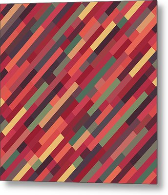 Geometric Block Metal Print by Mike Taylor
