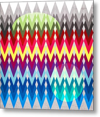 Geometric Colors  Metal Print by Mark Ashkenazi