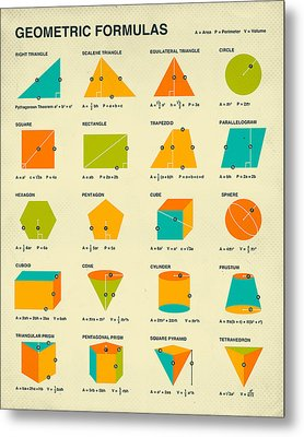 Geometric Formulas Metal Print by Jazzberry Blue