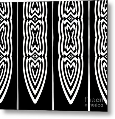 Pattern Geometric Black White Art No.337. Metal Print by Drinka Mercep