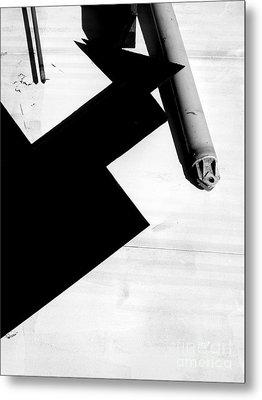 Geometric Shadow Metal Print by Robert Riordan