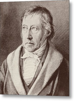 Georg Hegel  Metal Print by Anonymous