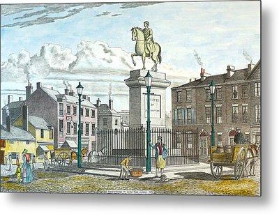 George 111 Statue Liverpool Metal Print