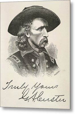 George Armstrong Custer Metal Print by British Library